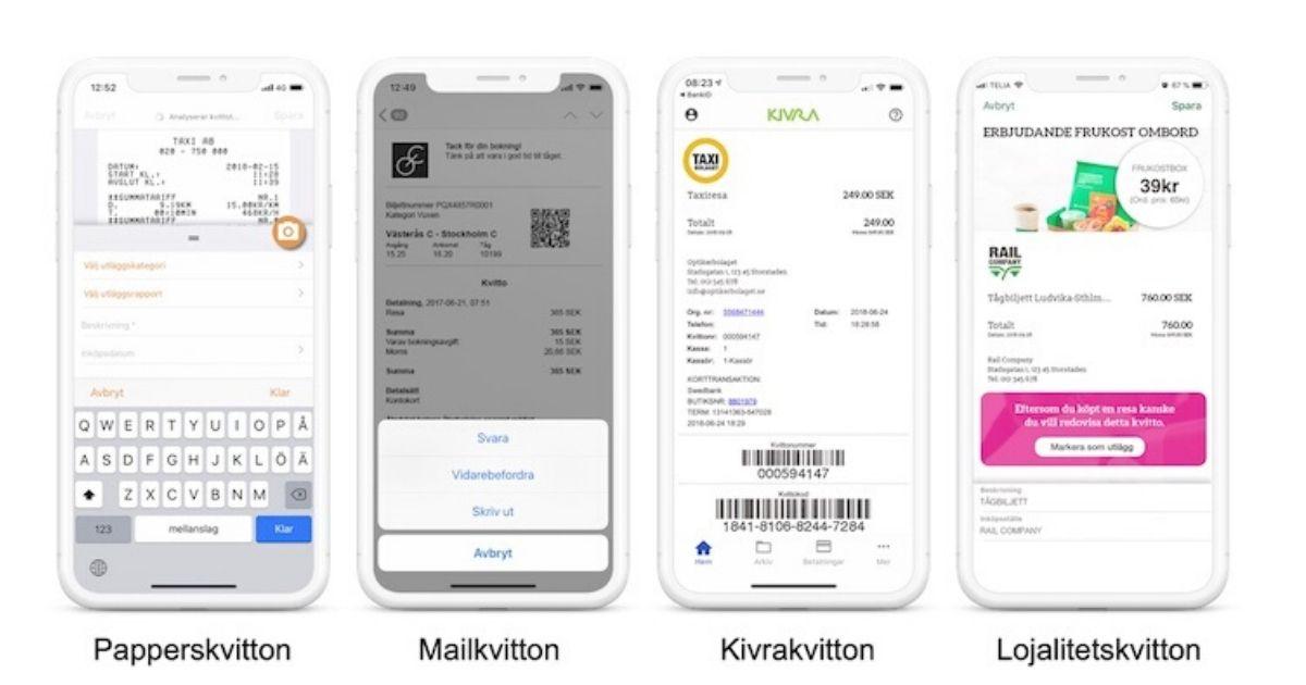 digital kvittohantering app